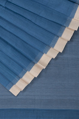 Kuppadam Comb Cotton and Handspun Handloom saree – Light Blue