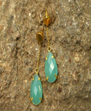 Rama Green - Natural Stone Earrings