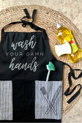 Okhai 'Zing' Hand Embroidered Pure Cotton Unisex Apron