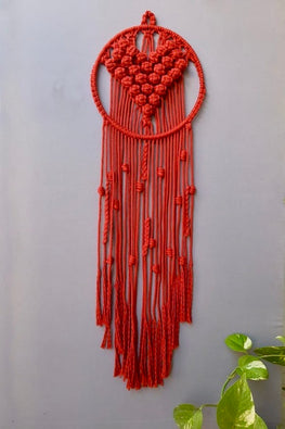 Handcrafted Macrame 'Le Coeur' Dream-Catcher
