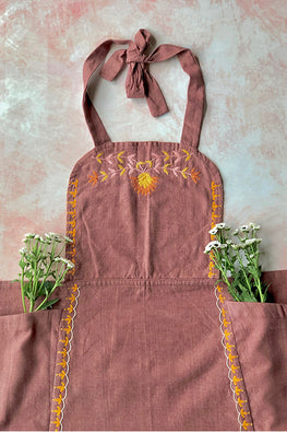 Okhai 'Mishti' Hand Embroidered Pure Cotton Women's Apron
