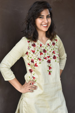 Okhai 'Secret Garden' Embroidered Kurta