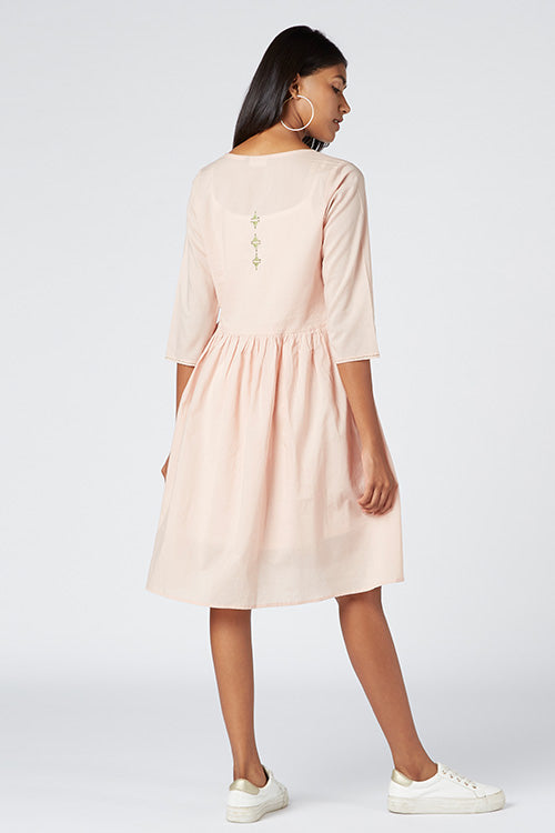 Okhai 'Diva' Appliqué Organic Cotton Cambric Dress