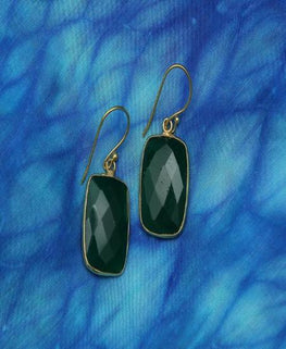Green - Natural Stone Earrings