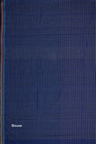 Magic Checks Cotton Handloom saree – Dark Blue