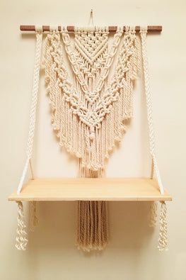 Boho Single Shelf Wall Hanging