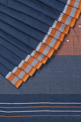 LK-5 Buta Cotton Handloom Saree – Blue
