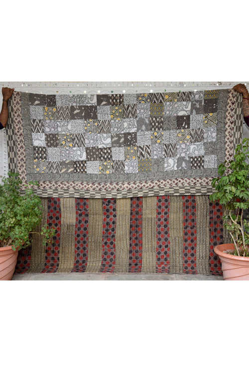 Okhai 'Amaya' Double Bed Quilt-45