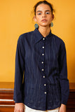 Okhai 'Puddle' Hand Embroidery Full Sleeve Pure Cotton Shirt