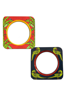 "Trovecraft 6"" Handpainted Parrot & Banana Frames - Set of 2"