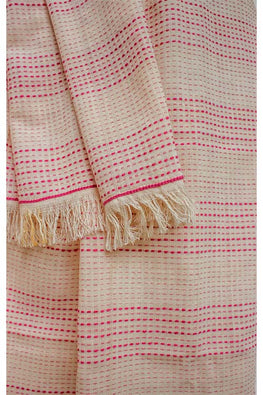 Khadi cotton Azo free dyed stole-2-shaft weave-style 77