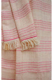 Handspun handwoven cotton Azo free dyed stole-2-shaft weave-style 77