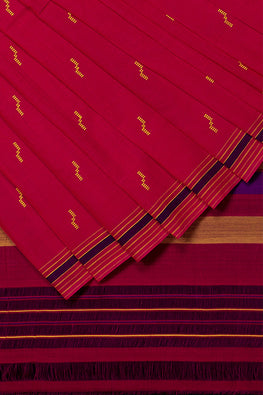 Rekha Buta Cotton Handloom Saree – Pink