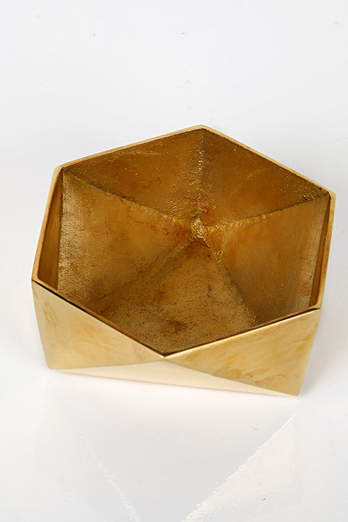 Origami Bowl Small Brass