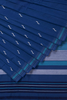 Rekha Buta Cotton Handloom Saree – Blue