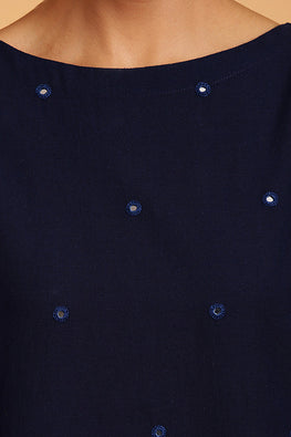 Okhai 'Ocean' Embroidered Cotton Kurta