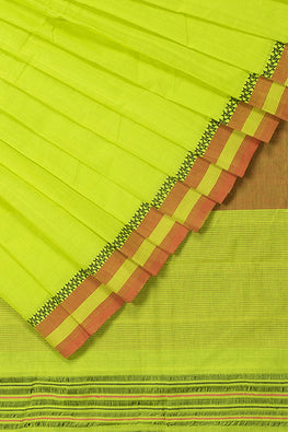 LK-5 Buta Cotton Handloom Saree – Green