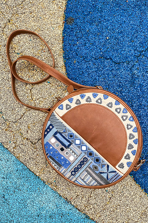 Okhai 'Baadal' Leather Sling Bag