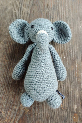 The Color Caravan Hand Crochet Acrylic Wool Barfi Elephant Toy Online