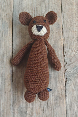 The Color Caravan Hand Crochet Acrylic Wool Brownie Bear Toy Online