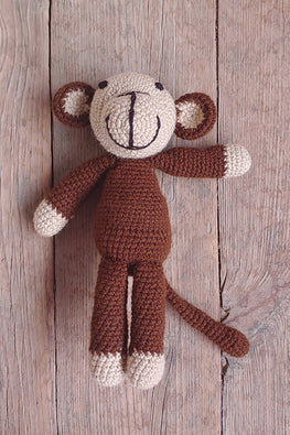 The Color Caravan 'Teja Monkey' Hand Crochet Acrylic Wool Toy