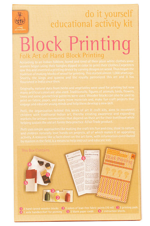DIY Toys Wooden Block Printing Kit - Classic Blocks