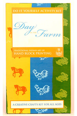 DIY Educational Toys Wooden Block Printing Kit - Day In The Farm