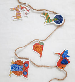 POTLI DIY Educational Craft kit - Christmas Decorations using Gond Art - Forest Friends for age 6 years +