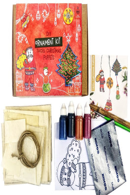 POTLI DIY Ornament kit - Handmade Tholu Christmas Puppets - For 8 yrs - 80 yrs