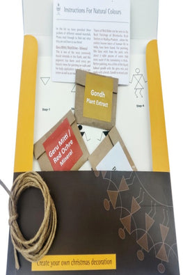 POTLI DIY Educational Craft kit - Christmas Decorations using Warli Art - Family Star- for age 6 years +