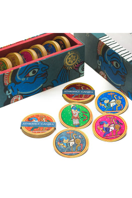 POTLI Ganjifa Playing Cards ( Athrangi set of 96 cards)