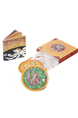 POTLI Handmade Ganjifa Playing Cards Online Abridged Set Of 5 Ganjifa Game Cards
