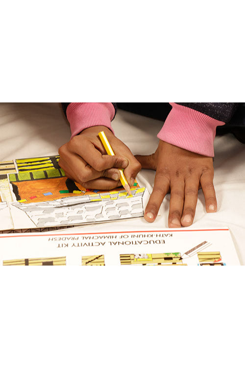 Educational Colouring Kit For our Young Architects DIY kit  (Bonga Huts of Gujrat)