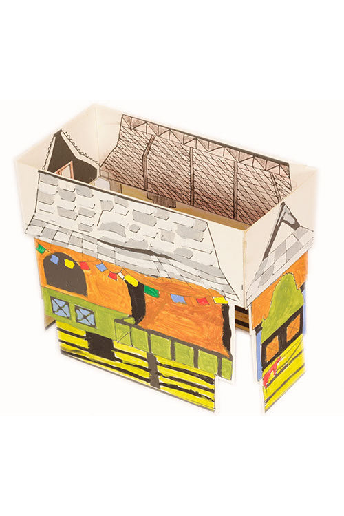 Educational Colouring Kit For our Young Architects DIY kit (Kath Kuhni Houses of Himachal Pradesh )