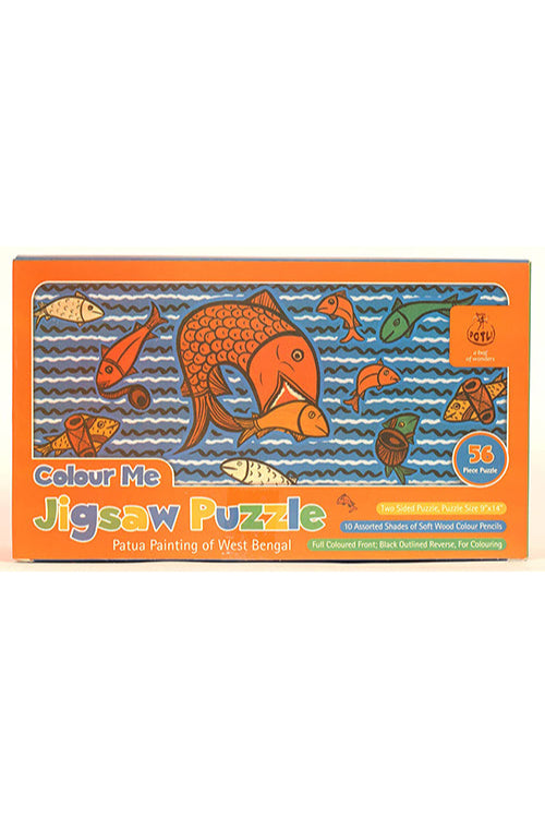 DIY Jigsaw Colouring Kit - Patua Painting of West Bengal