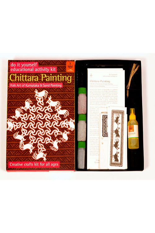 Potli DIY Educational Colouring Kit -  Chittara Painting of KarnatakaFor Young Artists  (5 Years +)