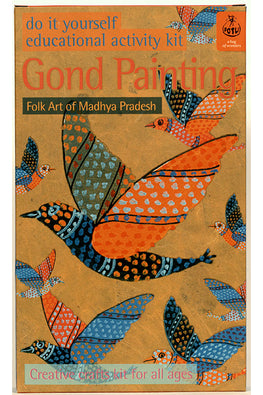 POTLI DIY Educational Colouring Kit - Gond Painting of Madhya Pradesh For Young Artists (5 Years +)