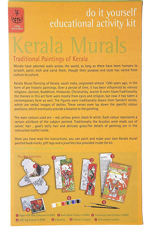 POTLI DIY Educational Colouring Kit (Kerala Mural Painting ) For Young Artists 10 Years +