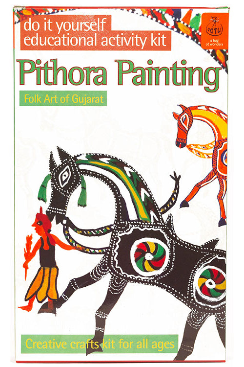 Potli DIY Educational Colouring Kit - Pithora Painting of Gujarat For Young Artists (5 Years +)