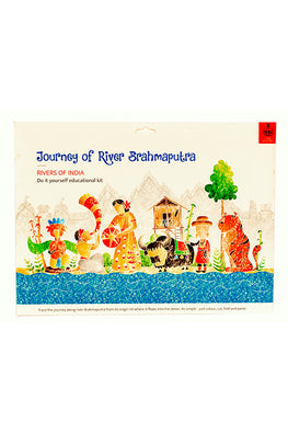 Educational Colouring Kit Learning Activity about Rivers Of India (River Brahmaputra)