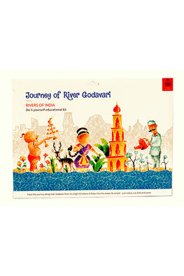 Educational Colouring Kit Learning Activity about Rivers Of India (River Godavari)