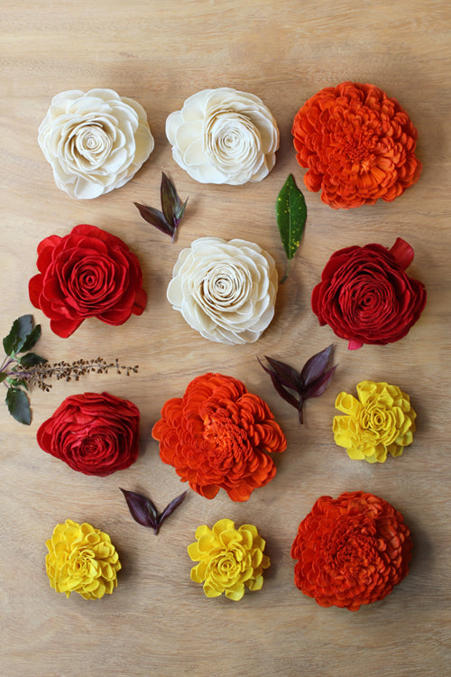 "Okhai Handcrafted ""Marigold"" Flower (Pack Of 5)"