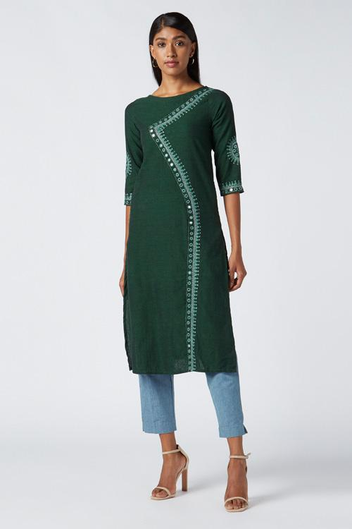Okhai 'Aranya' Embroidered Cotton Handloom Kurta