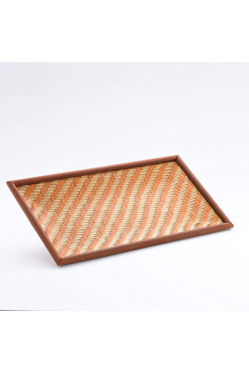 Handmade Bamboo Cereal Tray - Small (Orange)