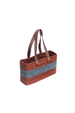 Handmade Sabai Grass Vegetable Bag (Brown)-1
