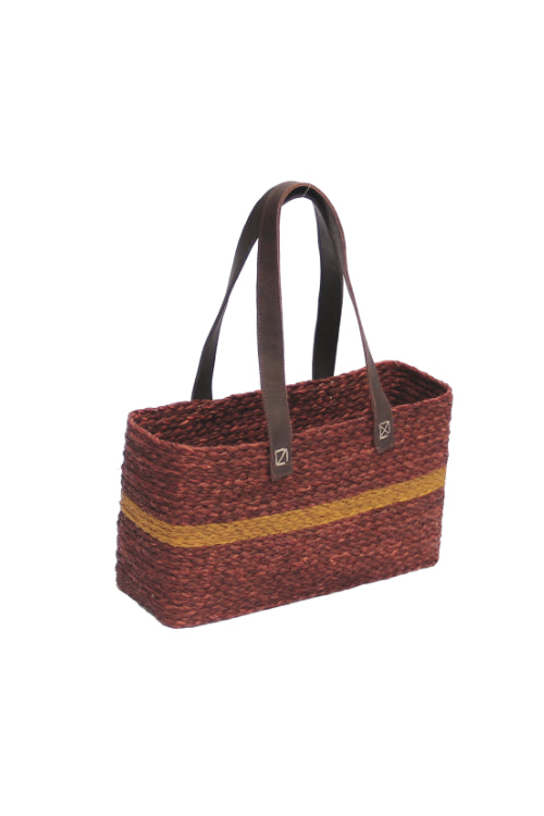 Handmade Sabai Grass Vegetable Bag (Brown)-3