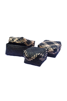 Handmade Sitalpati  Gift Box Set of 3 (Black)