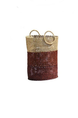 Handmade Sabai Grass Laudry Basket (Brown)