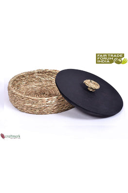 Handmade Sabai Grass Roti Box (Natural)