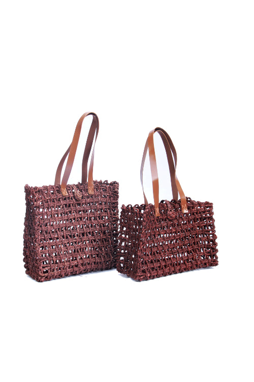 Handmade Sabai Grass Lunch Bag So2 (Brown)